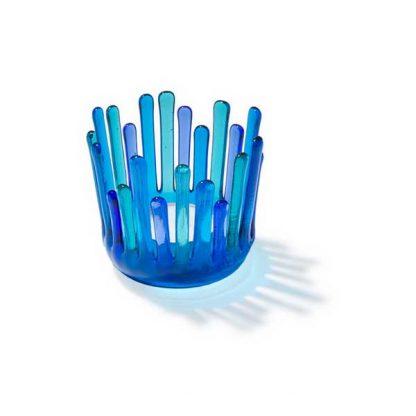 """Telysgrotte """"Bit for bit"""", lyse blå-toner-0"""