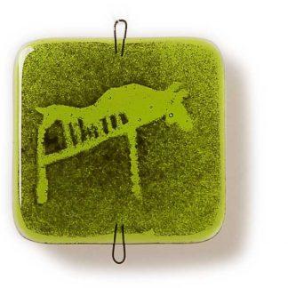 Vindusbildet, vårgrønn, Elg-0