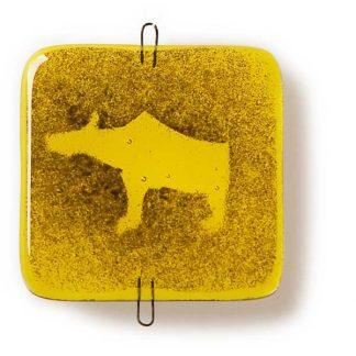 Vindusbildet, gul, Bjørn-0