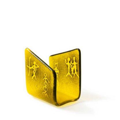 Serviettholder, gul, Mennesker-0