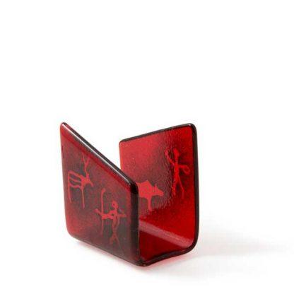 Serviettholder, rød, diverse motiver-0