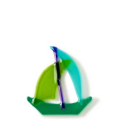 Båt, smaragdgrønn, lime og vannblå-0